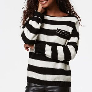 Tristan Striped SWEATER With RHINESTONES S